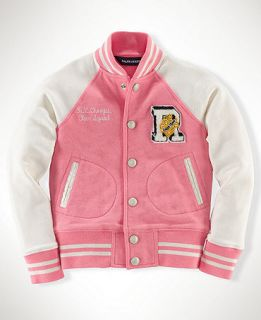 Ralph Lauren Kids Jacket, Little Girls Varsity Jacket   Kids