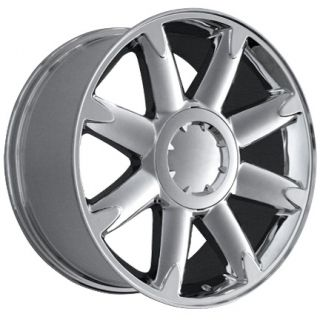 20x 8 5 Chrome 8 Spoke GMC Denali Yukon Sierra Suburban 6 Lug Wheel