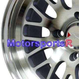 Machine Silver Wheels Rims Deep Dish Stance 4x4 5 4x114 3 Honda