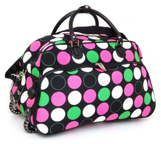 Bag Carry on Luggage Skate Wheels Gym Travel Tote Shoulder NW
