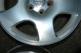 AUDI A8 OEM 17 EURO FAT Flat FIVES Wheels Factory Genuine A4 A6 Jetta