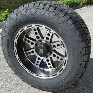 20x10 XD Diesel Wheels Rims 35 Nitto Terra Grappler Tires Dodge RAM