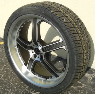 22 Black Lorenzo WL21 Wheels Rims Nexen HP Tires Magnum Charger