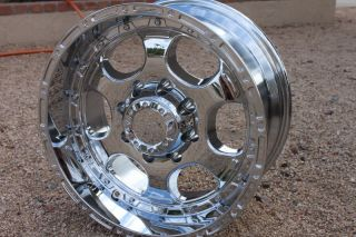 18 inch Chrome Rims Chevy 2500 Silverado Sierra Dodge RAM H2 Truck 8