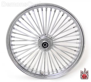 Set of Chrome Fat Mammoth Wheels 21x3 5 18x8 5 48 Spokes 250 Fit