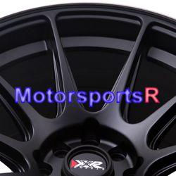 XXR 527 Black White Stripe Rims Concave Wheels 89 94 Nissan 240sx S13