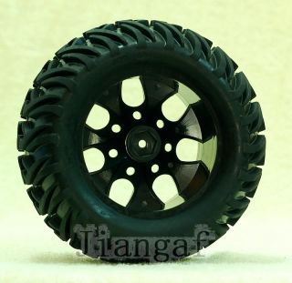 4X RC 1 10 Monster Bigfoot Car Truck Wheel Rubber Tyre Tire Y6R4E