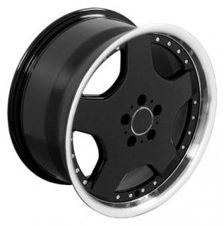 18 8 9 Black AMG Wheels Set of 4 Rims Fit Mercedes C E s Class SLK