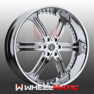 Set of 4 New 28 Versante 226 6x139 7 25 Wheels Rims Chrome