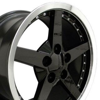 18 Black C6 Style Wheels & Tires Set of 4 Rims Fit Corvette C4 C5 C6