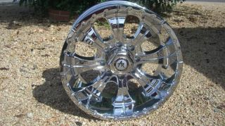 17 inch Chrome Rims Wheels 8 Lug Ford F250 F350 GMC Sierra 2500 Truck