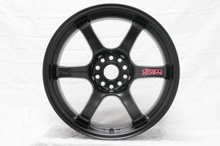 Rays Gram Lights 57DR Wheels Rims 18x10 5 22 5x114 3 Semi Gloss Black