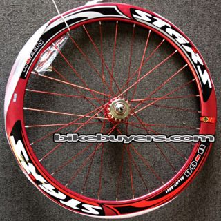 Stars 50mm Deep Rims Aluminum Alloy Front Rear Wheels Fixie Fixed Gear
