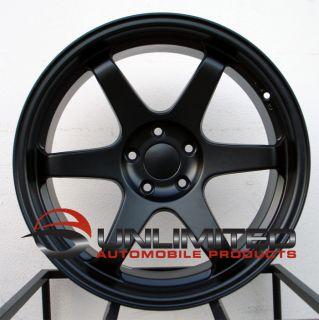 19 Varrstoen T37 Concave Style Matte Black Wheels Rims Fit Nissan