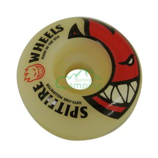 Spitfire Big Head Skateboard Wheels No Bearings 51mm White C422