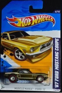 2012 Hot Wheels 67 Ford Mustang Coupe Super Hunt Muscle Mania Real