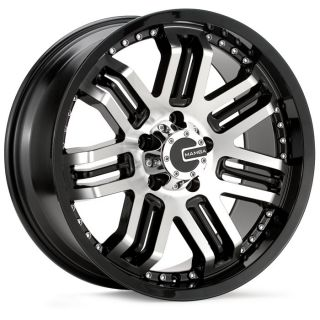 M3 Gloss Black Machined Wheels Rims Toyota Tacoma Silverado