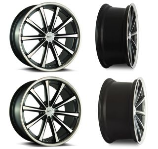 20 MT 10 Staggered Concave Wheels 5x114.3 +40 Matte Black/Machined
