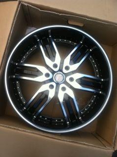 24 Black Rims Tires 6x139 Chevy Denali Titan GMC Yukon Infiniti