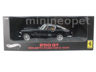 Hot Wheels Elite Ferrari 250 GT Berlinetta Passo Corto SWB 1 18 Dark