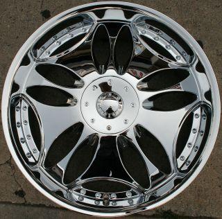 Bigg Tripp 514 24 Chrome Rims Wheels Cadillac SRX Uplander 24 x 10 6H