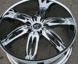 Dub Nasty S157 24 Chrome Rims Wheels GMC Acadia 07 Up 24 x 9 5 6H 30