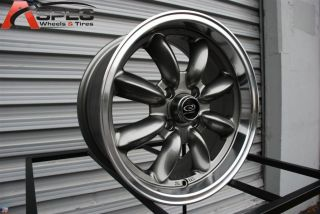 15X7 ROTA RB 4X100 +25 ROYAL STEEL GRAY WHEEL FITS CIVIC INTEGRA YARIS