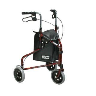 New Medical Winnie Lightweight Aluminum Three Wheel Rollator Swivel