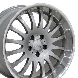 18 8 9 Silver Wheel Set of 4 Rims Fit Mercedes C E s Class SLK CLK