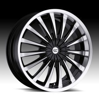 54 5 Black Vision Shattered Wheels Rims 5 Lug Sunfire Accord