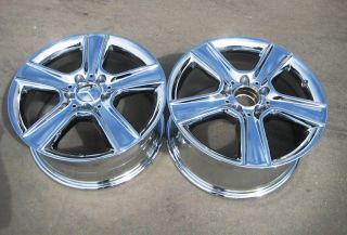 STOCK 4 NEW 17 FACTORY MERCEDES C300 C350 CHROME WHEELS RIMS 2008 12