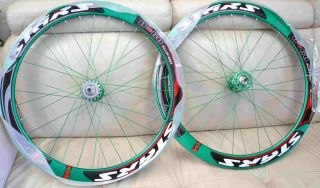 700c Deep 50mm Road Bike Wheels Rims with SEALED Bearing Green