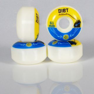 Brand New Skateboard Wheels 52mm 100A SEALED Set of 4 with ABEC9