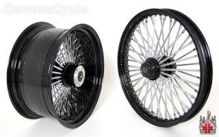 Set of Black Fat Mammoth Wheels 21x2 15 18x8 5 48 Spokes 250 Fits