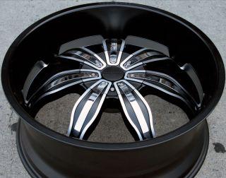 RVM 615 22 Black Rims Wheels Honda Odyssey Ridgeline