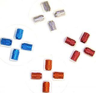 Red Aluminum Rims Wheels Tire Air Valve Stem Caps