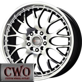 17 Black Drag Dr 19 Wheels Rims 5x100 5x114 3 5 Lug Civic Mazda 3 6
