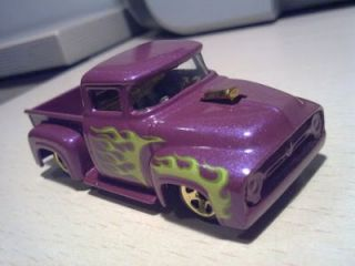 Hot Wheels Purple Custom 1956 Ford F 100 Diecast Pickup Truck HW