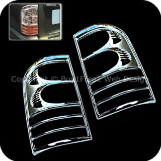 Safari MK6 Y61 2001 2005 Chrome Tail Light Rims Covers Trim