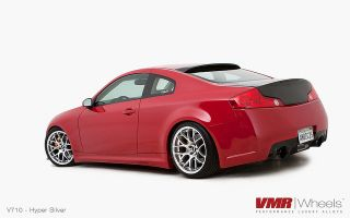 11 Staggered VMR V710 Hyper Silver Wheels Rims Fit Infiniti G35 & G37