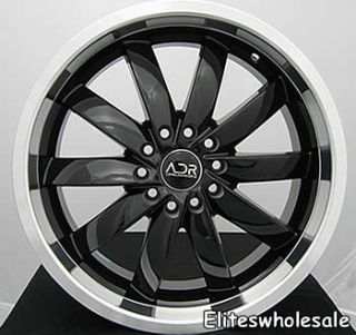 18x8 5 Black Wheels Rims adr Propulsion 5x112 Audi A4