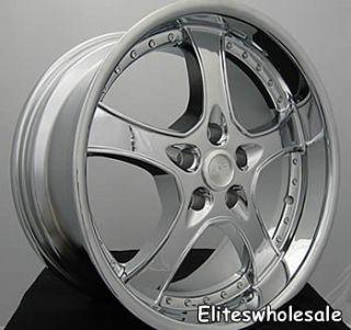 20x8 5 Chrome Wheels Rims adr Spartan 5x4 5
