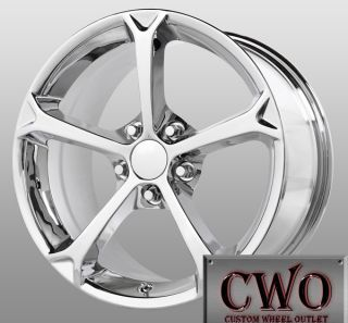 17 Chrome Replica Grand Sport Wheels 5x4 75 5 Lug Corvette