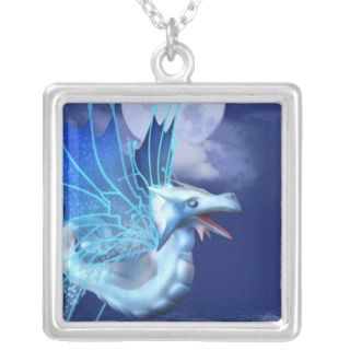 Winged Dragon in Flight Necklace