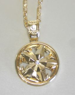 Hip Hop Jewelry 30 Spinning Rims Necklace Gold