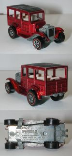 Redline Hotwheels 1969 Red Classic 31 Ford Woody