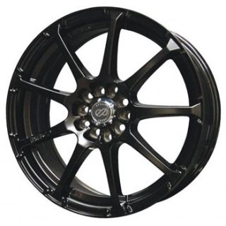 16 Enkei EDR9 Black Rims Wheels 16x7 45 5x100