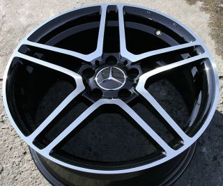 M09 18 Black Rims Wheels Mercedes CLK350 E320 18 x 8 0 5H 33