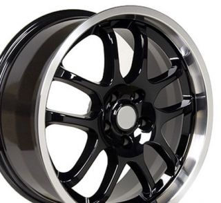 18 X8X9 Black Wheels Rims Fit Infinti G35