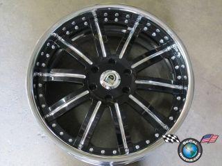 Asanti AF134 22 22x9.5 6x139 black and chrome lip custom 3 piece +38